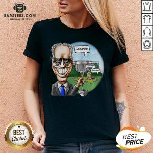 Nice Joe Biden Pulling The Swamp Plug 46th President We Just Did Shirt - Design By Earstees.com