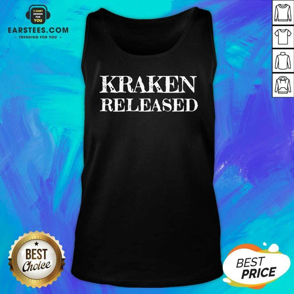 Nice Kraken Released Tank Top - Design By Earstees.com