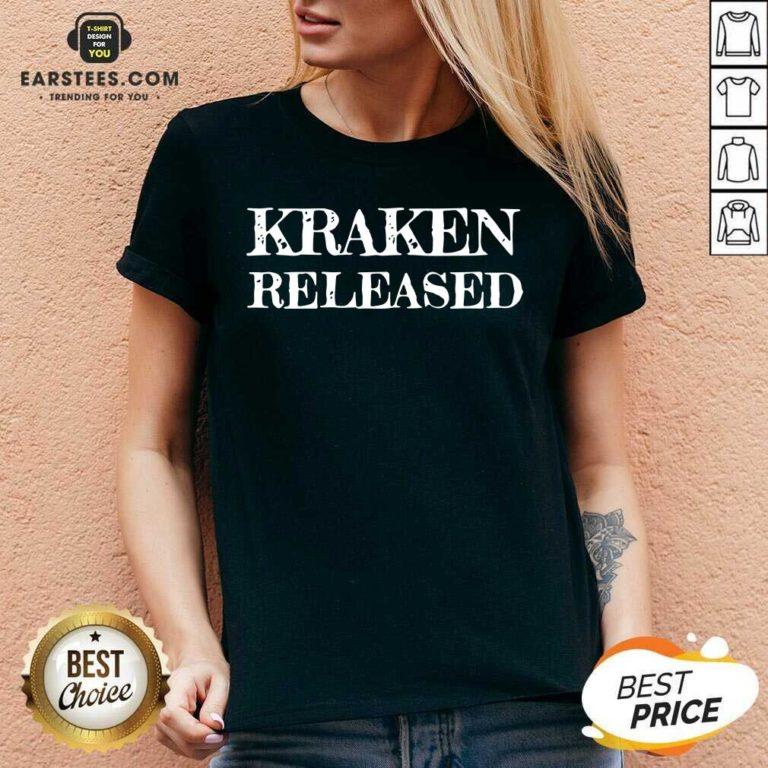 Nice Kraken Released V-neck - Design By Earstees.com