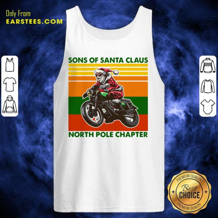 Motorcycle Sons Of Santa Claus North Pole Chapter Christmas Tank Top - Design By Earstees.com