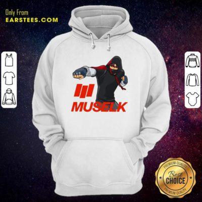 Muselk Punch Red Hoodie - Design By Earstees.com