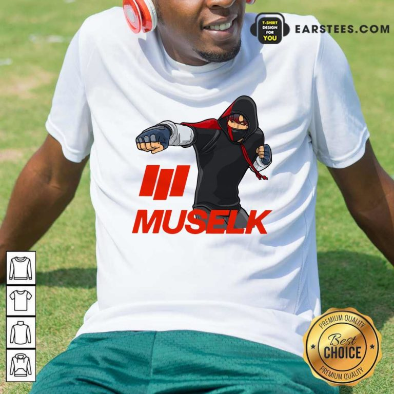 Muselk Punch Red T-Shirt - Design By Earstees.com