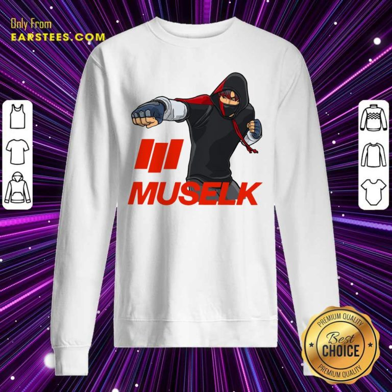 Muselk Punch Red Sweatshirt - Design By Earstees.com