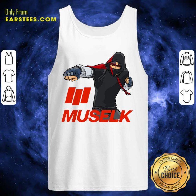 Muselk Punch Red Tank Top - Design By Earstees.com