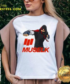 Muselk Punch Red V-neck - Design By Earstees.com