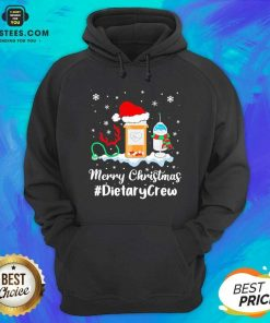 Nurse Santa Vaccine Merry Christmas #Dietary Crew Hoodie - Design By Earstees.com
