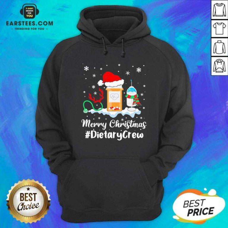 Nurse Santa Vaccine Merry Christmas #Dietary Crew Hoodie - Design By Earstees.com