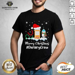 Nurse Santa Vaccine Merry Christmas #Dietary Crew Shirt - Design By Earstees.com