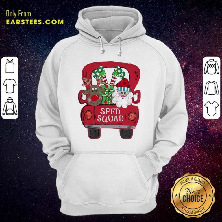 Reindeer Snd Santa Claus Sped Squad Christmas Hoodie - Design By Earstees.com