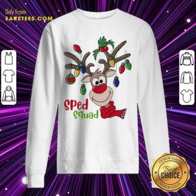 Reindeer Sped Squad Christmas Sweatshirt- Design By Earstees.com