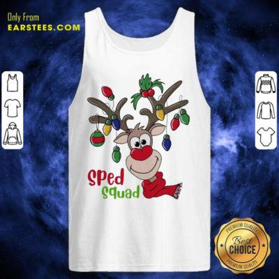 Reindeer Sped Squad Christmas Tank Top - Design By Earstees.com