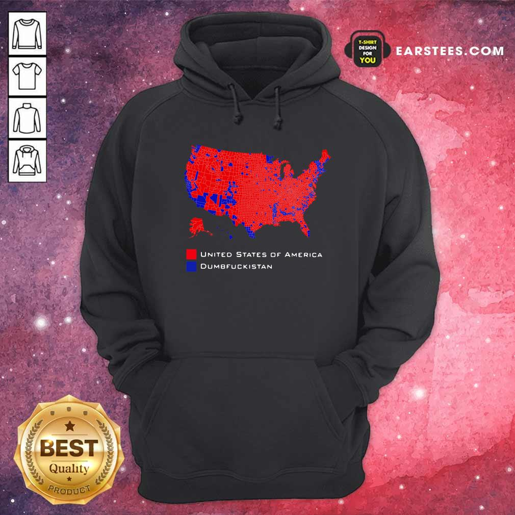 Republican Version United States of America Vs Dumbfuckistan Election Map Hoodie - Design By Earstees.com