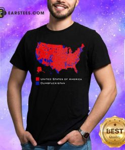 Republican Version United States of America Vs Dumbfuckistan Election Map Shirt - Design By Earstees.com