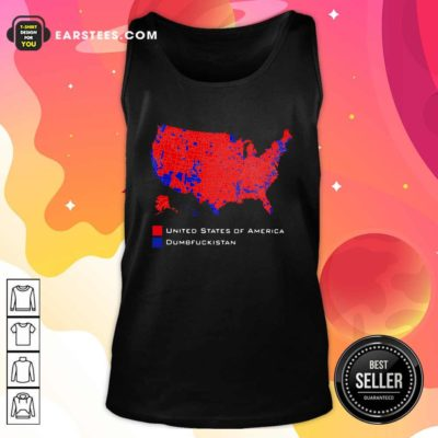 Republican Version United States of America Vs Dumbfuckistan Election Map Tank Top - Design By Earstees.com