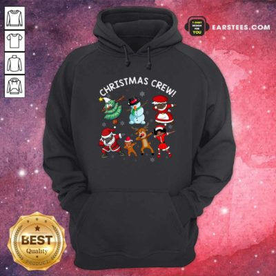 Santa Claus And Friends Dab Dance Dabbing Christmas Crew Hoodie - Design By Earstees.com
