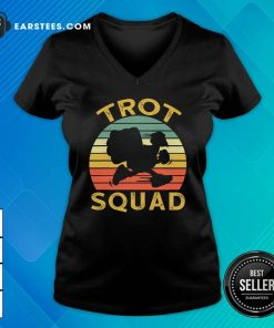 Trot Squad Thanksgiving Turkey Trot Costume Vintage V-neck - Design By Earstees.com
