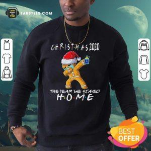Christmas The Year We Stayed Home 2020 Quarantine Gingerbread Pajama Sweatshirt - Design By Earstees.com