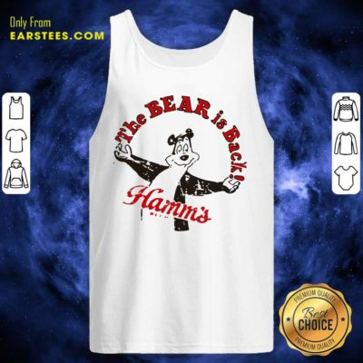 Cool Retro Hamm's Beer Bear Is Back Tank Top - Design By Earstees.com