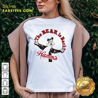 Cool Retro Hamm's Beer Bear Is Back V-neck - Design By Earstees.com