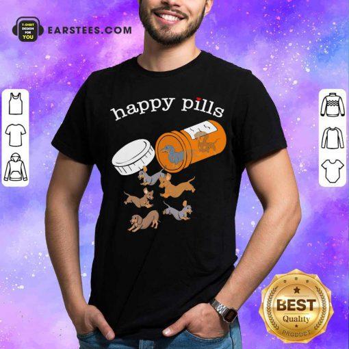 Dachshund Happy Pills Hoodie - Design By Earstees.com