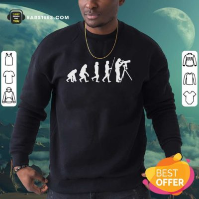 Evolution Of Astronomer Sweatshirt - Design By Earstees.com