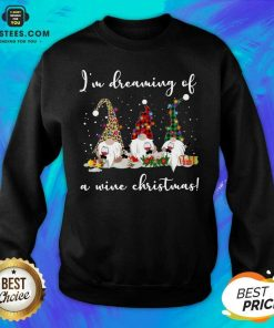 Official Gnomes Drink Wine Im Dreaming Of A Wine Christmas Sweatshirt - Design By Earstees.com