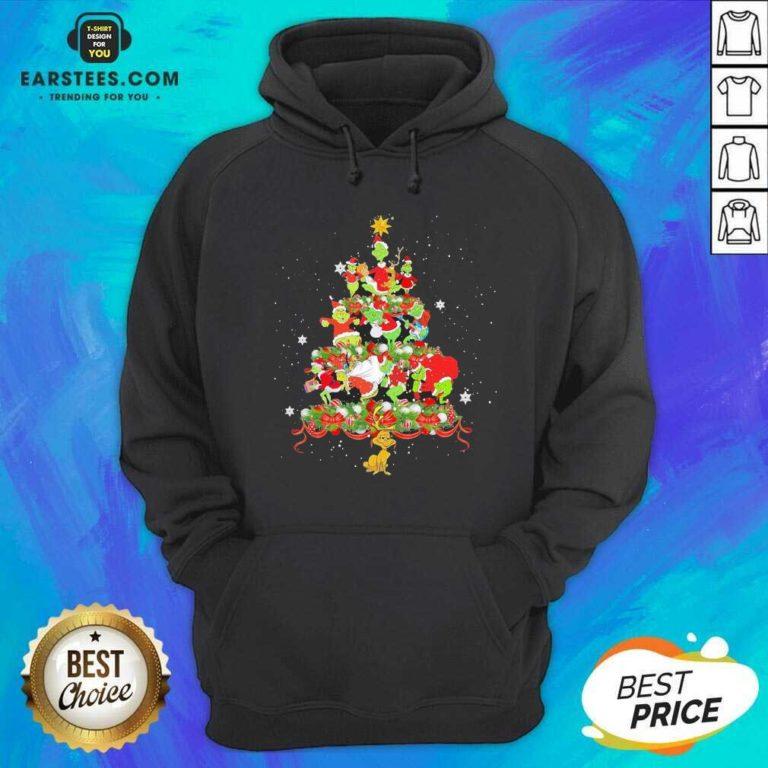 Official Grinch Santa Reindeer Christmas Tree Hoodie - Design By Earstees.com