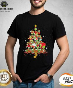 Official Grinch Santa Reindeer Christmas Tree Shirt - Design By Earstees.com