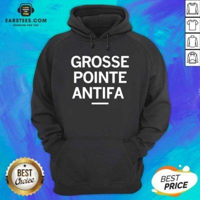 Official Grosse Pointe Antifa Hoodie - Design By Earstees.com