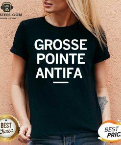 Official Grosse Pointe Antifa V-neck - Design By Earstees.com