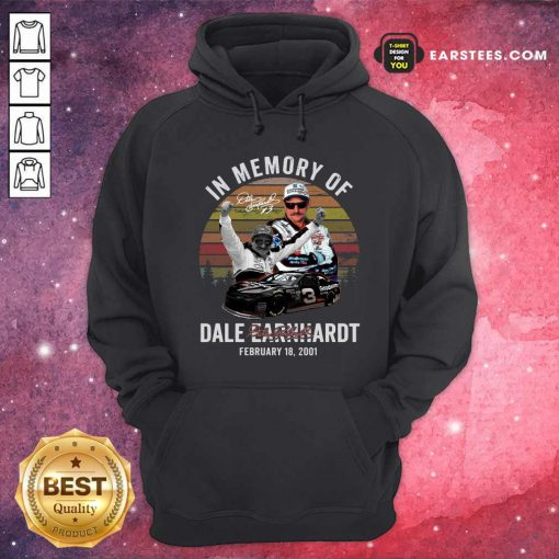 In Memory Of Dale Earnhardt February 18 2001 Signature Vintage Hoodie - Design By Earstees.com