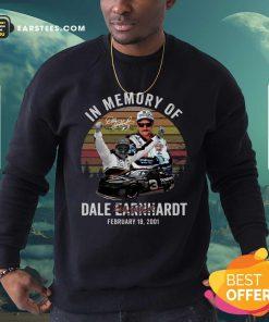 In Memory Of Dale Earnhardt February 18 2001 Signature Vintage Sweatshirt - Design By Earstees.com