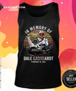In Memory Of Dale Earnhardt February 18 2001 Signature Vintage Tank Top - Design By Earstees.com