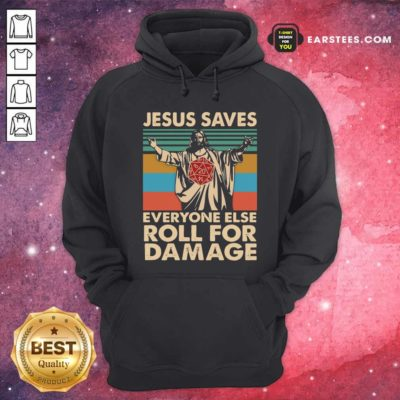 Jesus Saves Everyone Else Roll For Damage Vintage Retro Hoodie - Design By Earstees.com