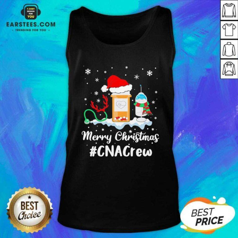 Nurse Santa Vaccine Merry Christmas #CNA Crew Tank Top - Design By Earstees.com