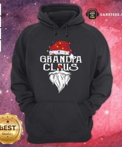 Santa Claus Grandpa Claus Merry Christmas Light Hoodie - Design By Earstees.com