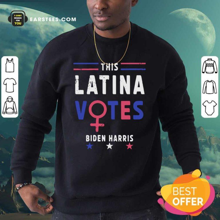 This Latina Votes Biden Harris Stars Election Sweatshirt - Design By Earstees.com