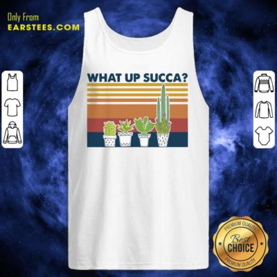 Vintage Gardening What Up Succa Tank Top - Design By Earstees.com