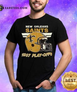 1987 New Orleans Saints Playoffs Vintage Shirt - Design By Earstees.com