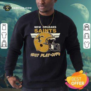 1987 New Orleans Saints Playoffs Vintage Sweatshirt - Design By Earstees.com