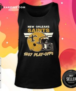 1987 New Orleans Saints Playoffs Vintage Tank Top - Design By Earstees.com