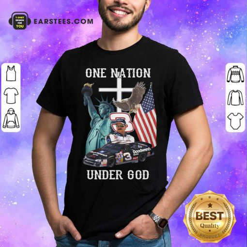 3 Goodwrench Dale Earnhardt One Nation Under God American Flag Hoodie - Design By Earstees.com