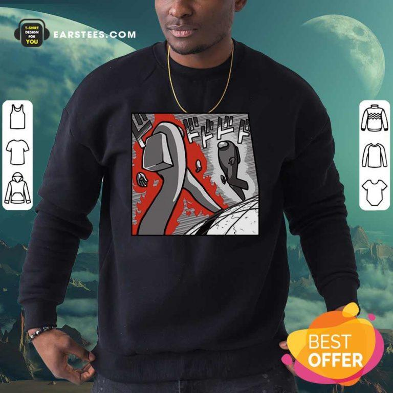 Among Us Merch Store Among Us Menacing US Sweatshirt - Design By Earstees.com