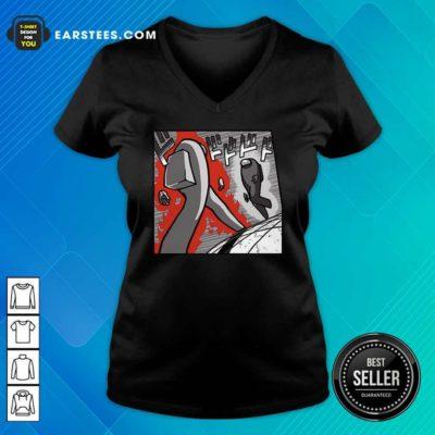 Among Us Merch Store Among Us Menacing US V-neck - Design By Earstees.com