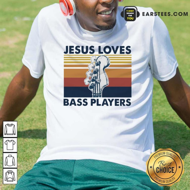 Guitar Jesus Loves Bass Players Vintage Shirt - Design By Earstees.com