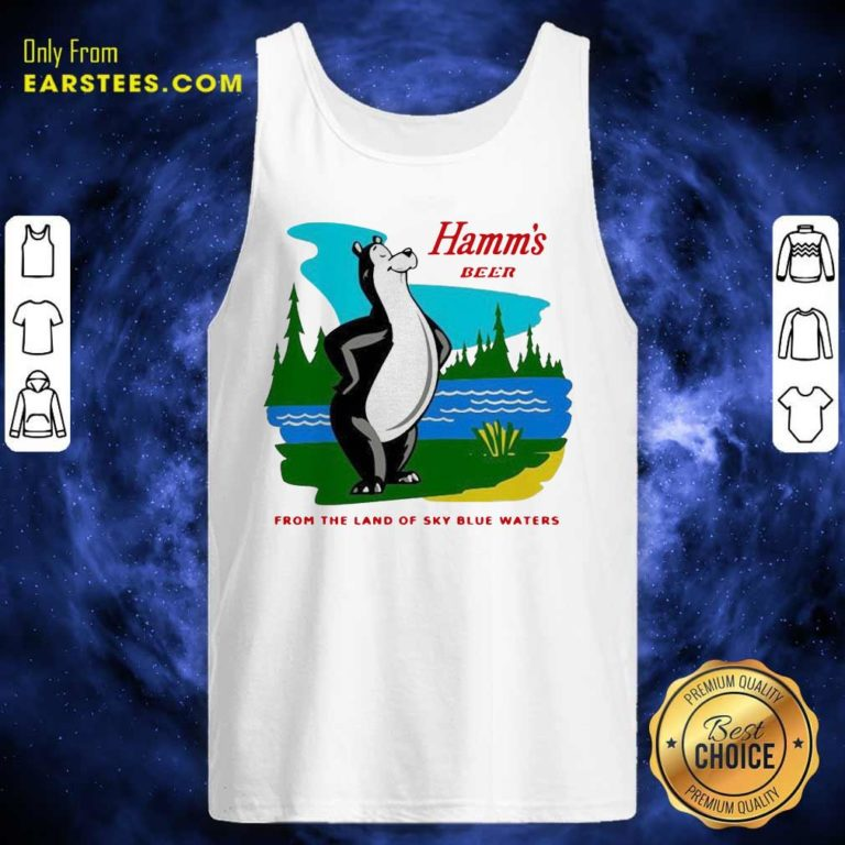 Hamm's Beer From The Land Of Sky Blue Waters Tank Top - Design By Earstees.com