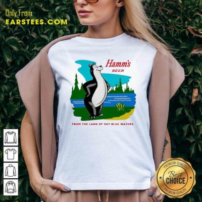 Hamm's Beer From The Land Of Sky Blue Waters V-neck - Design By Earstees.com