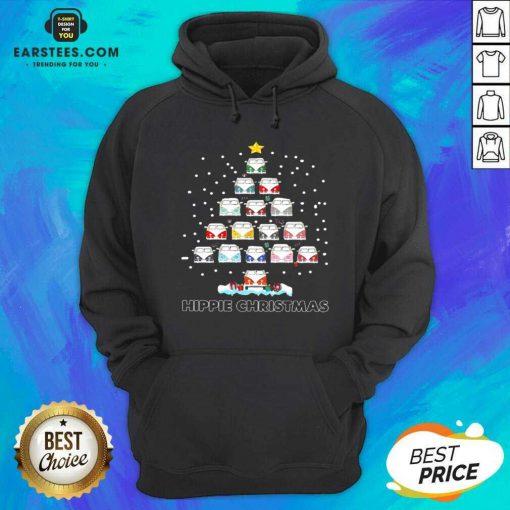 Original Hippie Bus Tree Christmas Hoodie - Design By Earstees.com