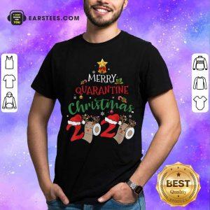Merry Quarantine Christmas 2020 Pajamas Christmas Shirt - Design By Earstees.com