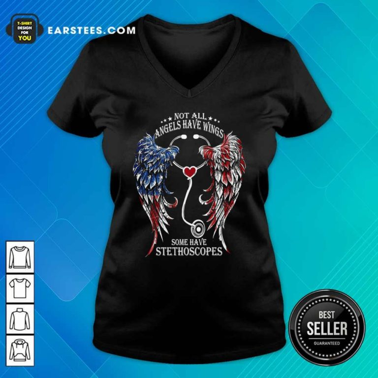 Nurse Angel Not All Angels Have Wings Some Have Stethoscopes V-neck - Design By Earstees.com